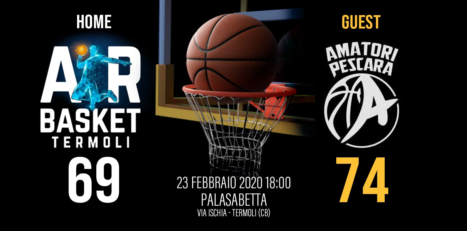 AIR BASKET TERMOLI vs PALLACANESTRO PESCARA 69 -74