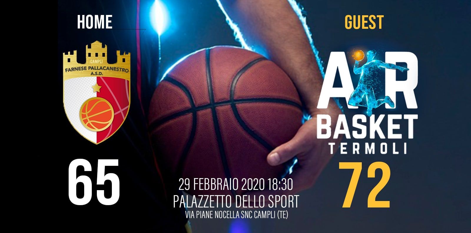 FARNESE PALLACANESTRO vs AIR BASKET TERMOLI